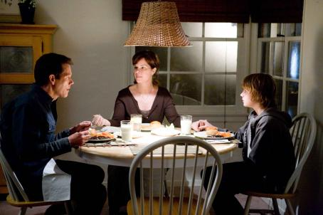 "Marcia Gay Harden (L-r) MARCIA GAY HARDEN as Megan Stark, KEVIN BACON as Tom Stark and MILES HEIZER as Davey Danner in Warner Bros. Pictures' drama ""Rails & Ties."" Photo by Tony Rivetti, Jr."
