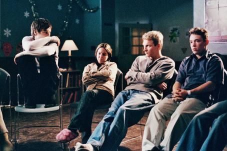 Self Medicated Left: Noah Segan as Trevor, (Two from left) Kristina Anapau as Nicole and Monty Lapica as Andrew (two from right) in a scene of .
