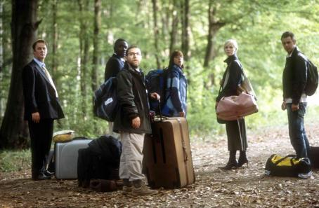 Tim McInnerny, Babou Ceesay, Andy Nyman, Claudie Blakely, Laura Harris and Danny Dyer in SEVERANCE, a Magnolia Pictures release. Photo courtesy of Magnolia Pictures.