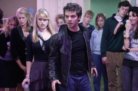 Dominic Cooper Alice Eve and  in STARTER FOR 10. Photo by Giles Keyte. © 2006 Picturehouse.