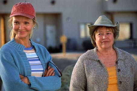 Kathy Bates Carol (Joan Allen) and Margene () share a moment in 'Bonneville,' a SenArt Films Release.