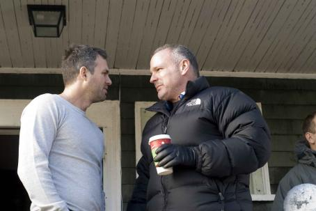 Brian Goodman Mark Ruffalo and director  on the set of WHAT DOESN'T KILL YOU, a Yari Film Group release. ©2008 Yari Film Group Releasing.