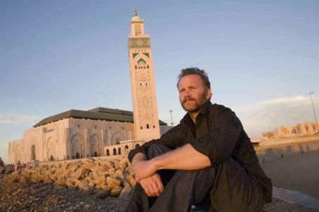 Morgan Spurlock  in his new documentary WHERE IN THE WORLD IS OSAMA BIN LADEN? Photo by: Daniel Marracino/The Weinstein Company, 2008.