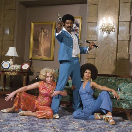 Nicole Sullivan  as Patricia Nixon, Michael Jai White as Black Dynamite and Salli Richardson as Gloria in Sony Pictures Entertainment and Columbia Pictures' Black Dynamite.