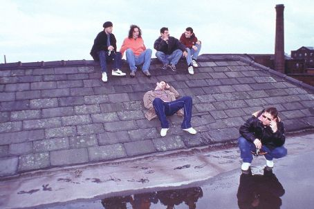 24 Hour Party People Dan Hope, Nick Clarke, Paul Popplewell, Steve Carver, Chris Coghill and Danny Cunningham as The Happy Mondays in MGM's  - 2002