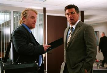 Philip Seymour Hoffman  and Alec Baldwin in Along Came Polly - 2004