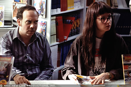 Paul Giamatti  as Harvey Pekar and Hope Davis as Joyce Pekar in Fine Line's American Splendor - 2003