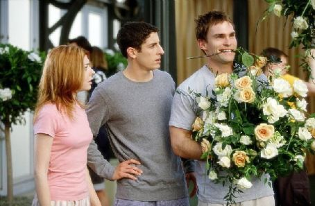 Seann William Scott Michelle (Alyson Hannigan) and Jim (Jason Biggs) are not amused by Stifler's () antics