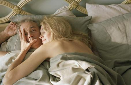 Bill Murray  (left) and Sharon Stone (right) star in Jim Jarmusch's BROKEN FLOWERS, a Focus Features release. Photo by David Lee.