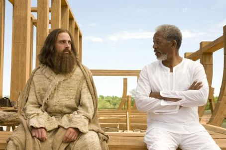 God Evan (Steve Carell) and  (Morgan Freeman) in Universal Pictures' Evan Almighty - 2007