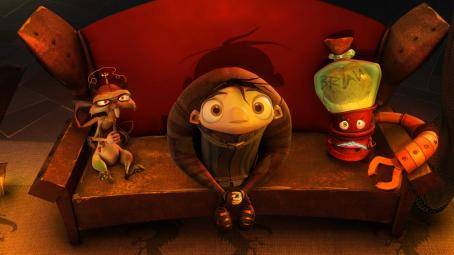 Sean Hayes Scamper, Igor and Brain in IGOR as voiced by Steve Buscemi, John Cusack, and . Photo by: TWC 2008