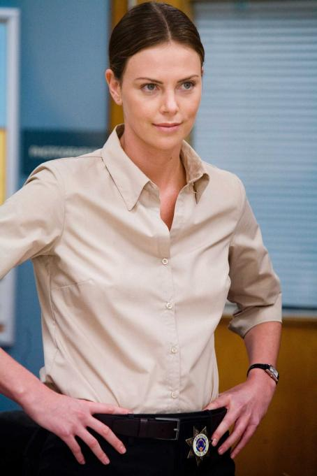 "Det. Emily Sanders Charlize Theron as  in director Paul Haggis' ""In the Valley of Elah,"" a Warner Independent Pictures release.  Photo Credit: Lorey Sebastian © 2007  © Elah Finance V.O.F."