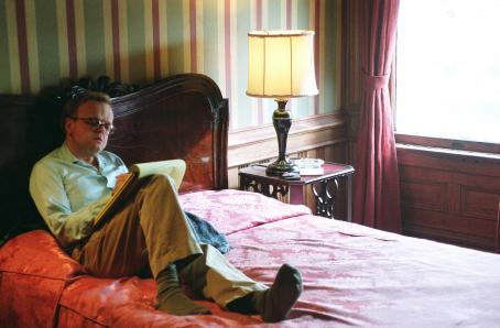 Toby Jones  as Truman Capote in director Douglas McGrath's Infamous, a Warner Independent Pictures release. Photo Credit: Van Redin © 2005 Warner Bros. Entertainment Inc.