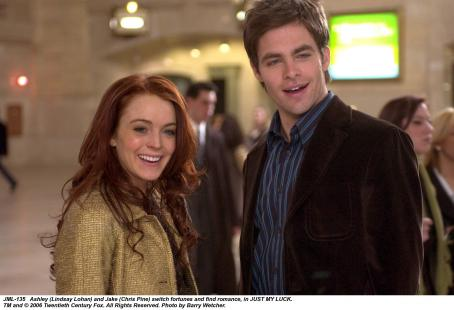 Ashley Albright Ashley (Lindsay Lohan) and Jake (Chris Pine) in Donald Petrie's Comedy Romance, Just My Luck - 2006