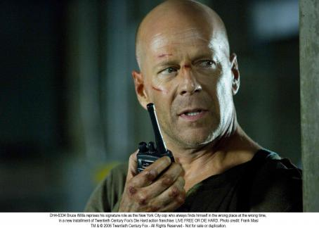 Live Free or Die Hard Bruce Willis is reluctant everyman hero John McClane. Photo credit: Frank Masi