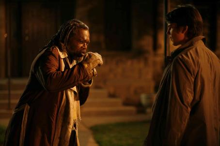 Samuel L. Jackson star as Champ with Josh Hartnett as Erik in Rod Lurie drama Resurrecting the Champ - 2007. ©2007 Yari Film Group Releasing.