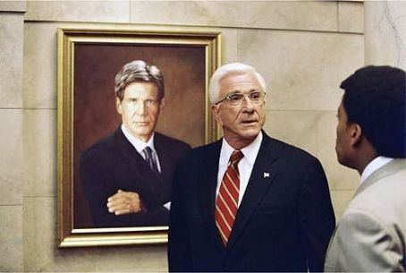 Leslie Nielsen Harrison Ford and  in Dimension's Scary Movie 3 - 2003