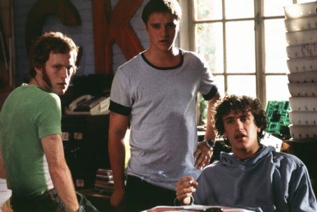 Slackers Jeff (Michael C. Maronna), Dave (Devon Sawa) and Sam (Jason Segel) are three roommates that have proudly scammed their way through the last four years of college in Screen Gems'  - 2002