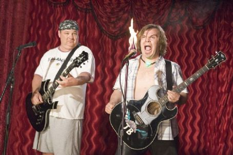 Kyle Gass Jack Black as JB and  as KG  on the set of New Line Cinema ' new comedy, Tenacious D in: The Pick of Destiny - 2006