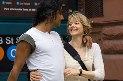 The Brave One Naveen Andrews as David and Jodie Foster as Erica in Warner Bros. Pictures'