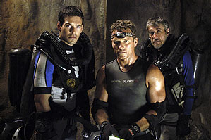Eddie Cibrian  and Cole Hauser in The Cave.