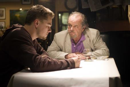 "Jack Nicholson - Undercover cop Billy Costigan (LEONARDO DiCAPRIO) infiltrates the Irish mob led by Costello (JACK NICHOLSON) in Warner Bros. Pictures' crime drama ""The Departed."" Photo by Andrew Cooper"