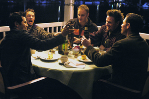 Matthew Lillard John Leguizamo, , Jay Mohr, Donal Logue and Ed Burns gather together for some male bonding before the big day in Bauer Martinez's THE GROOMSMEN, written and directed by Edward Burns.