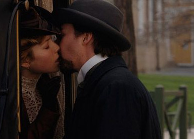 Edward Norton and Jessica Biel - Princess Sophie (Jessica Biel) and Eisenheim (Edward Norton) in Neil Burger movies , The Illusionist - 2006