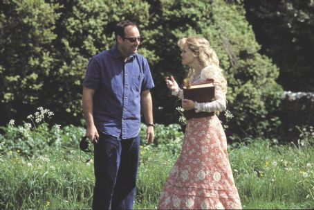The Importance of Being Earnest Director Oliver Parker and Reese Witherspoon on the set of Miramax's  - 2002