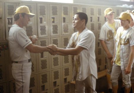 The Rookie Dennis Quaid and Jay Hernandez in Walt Disney's  - 2002