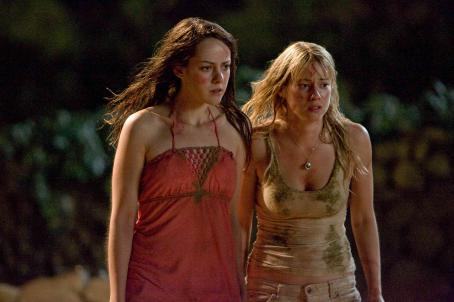 "Laura Ramsey Amy (Jena Malone, left) and Stacy (, right) find something deadly amid the ruins at an archeological site in ""The Ruins."" Photo Credit: Vince Valitutti. © 2007 DreamWorks LLC. All Rights Reserved."
