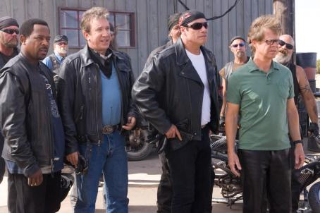Wild Hogs L to R: Martin Lawrence as Bobby, Tim Allen as Doug, John Travolta as Woody and William H. Macy as Dudley in Touchstone Pictures'  - 2007