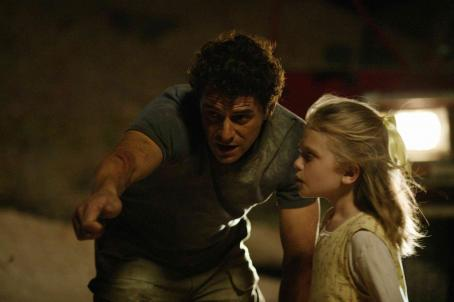 Sapphire Boyce Kellyanne Williamson () right, at opal fields with her father Rex Williamson (Vince Colosimo) left in Opal Dream.