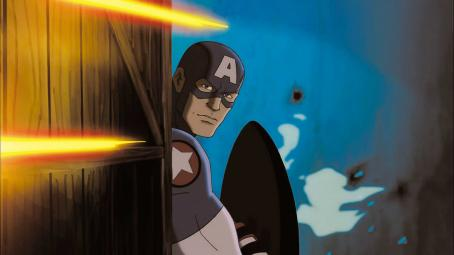Ultimate Avengers II Cap A in Ultimate Avengers 2: Rise of the Panther - 2006