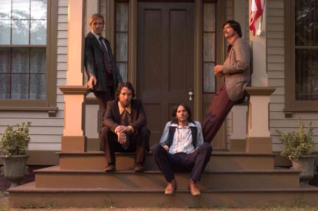 Ron Eldard , Paul Rudd, Josh Hamilton, and Ken Marino in DIGGERS, a Magnolia Pictures release. Photo courtesy of Magnolia Pictures.