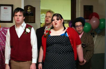 Fat Girls Ash Christian (Rodney), Joe Flaten (Joey), Ashley Fink (Sabrina) and Robin DeJesus (Rudy) in  - 2007