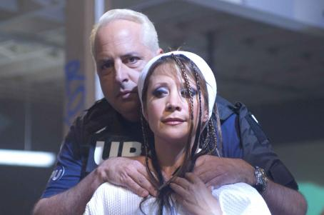 Cheri Oteri Jon Lovitz as Bart Bookman and  as Zora Charmichaels in Richard Kelly's SOUTHLAND TALES. Copyright © 2006 Samuel Goldwyn Films. All rights reserved.