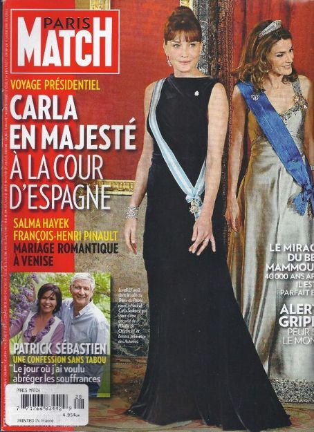 Carla Bruni - Paris Match Magazine Cover [France] (30 April 2009)