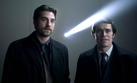 Anamorph Scott Speedman as Carl Unger and Willem Dafoe as Stan Aubrey in ANAMORPH directed by H.S. Miller. Photo Credit: Lacey Terrell. An IFC Films release
