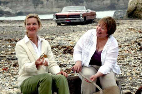 Kathy Bates Carol (Joan Allen) and Margene () make Smores on the beach in 'Bonneville,' a SenArt Films Release.