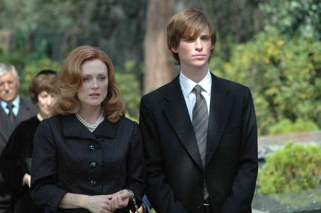 Eddie Redmayne Julianne Moore as Barbara Baekeland and  as Antony Baekeland in SAVAGE GRACE directed by Tom Kalin. © 2007 Monfort Producciones S.L - Lace Curtain Productions Inc.-Celluloid Dreams ALL RIGHTS RESERVED. An IFC Films release.