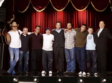 Jon Favreau (From left to right) Dwight Yoakum, Peter Billingsley, Sebastian Maniscalco, John Caparulo, Vince Vaughn, Ahmed Ahmed, Bret Ernst, Keir O'Donnell and  in Vince Vaughn's Wild West Comedy Show. © 2007 Picturehouse