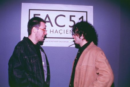 24 Hour Party People Paddy Considine as Rob Gretton and Andy Serkis as Martin Hannett in MGM's  - 2002