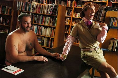 Jonah Blechman (l to r) Richard Hatch, playing himself, flirts with Nico ()