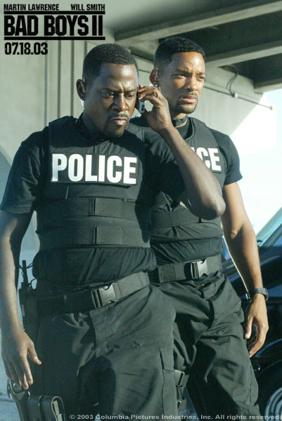 Martin Lawrence Will Smith and  in Columbia's Bad Boys II - 2003