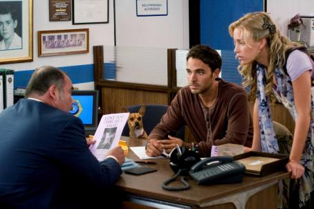 Manolo Cardona Left to right: JESUS OCHOA, PAPI, MANOLO CARDONA, PIPER PERABO. Photo Credit: Daniel Daza. '© Disney Enterprises, Inc. All Rights Reserved.'