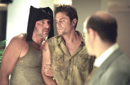 Stanley Tucci Tom Sizemore, Johnny Knoxville and  in Touchstone's Big Trouble - 2002