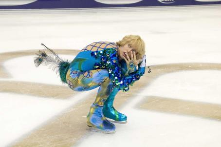 Jon Heder  star as Jimmy in comedy sport 'Blades of Glory' 2007