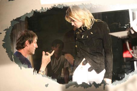 Captivity Director Roland Joffe and Elisha Cuthbert on the set of After Dark Films'  - 2007