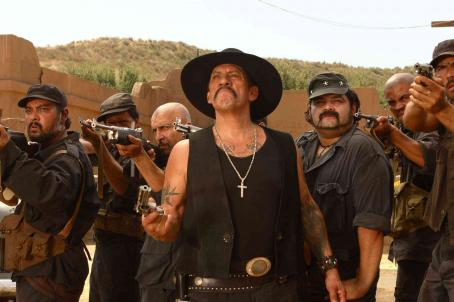 Danny Trejo Carlos Santana () in DELTA FARCE. Photo credit: Sam Urdank